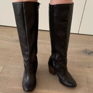 Lucky Brand Black Leather Knee High Boots 8M